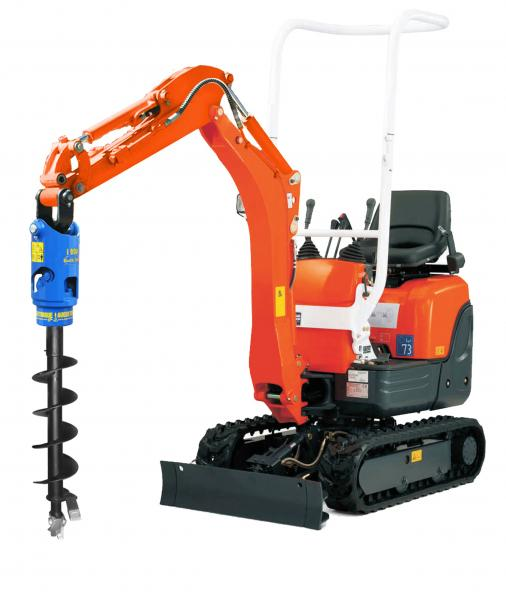 Auger torgue earth drill mini excavators 750kg to 3t for Hydraulic auger motor for sale