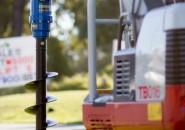 AUGER TORGUE EARTH DRILL MINI EXCAVATORS 750KG TO 3T