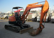 "2005 HITACHI ZX40U 4 TONNE ZERO SWING EXCAVATOR WITH 4 BUCKETS & ONLY 1100 HOURS ""ZERO SWING, HYDRAULIC QUICK HITCH, HAMMER PIPING"""