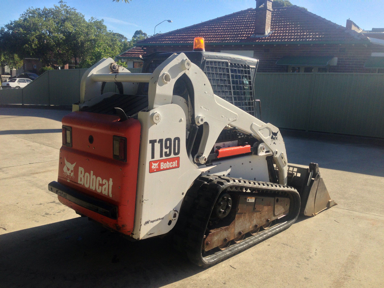 Bobcat T190 A C Closed Cab Tracked Skid Steer Loader With